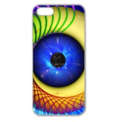Eerie Psychedelic Eye Apple Seamless Iphone 5 Case (clear) by StuffOrSomething