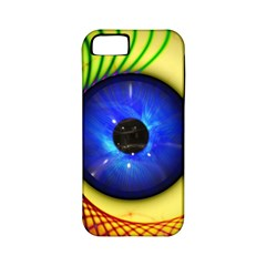 Eerie Psychedelic Eye Apple Iphone 5 Classic Hardshell Case (pc+silicone) by StuffOrSomething