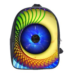 Eerie Psychedelic Eye School Bag (xl)