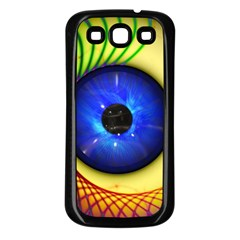 Eerie Psychedelic Eye Samsung Galaxy S3 Back Case (black) by StuffOrSomething