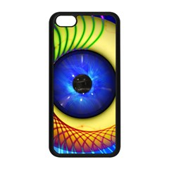 Eerie Psychedelic Eye Apple Iphone 5c Seamless Case (black) by StuffOrSomething
