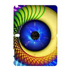 Eerie Psychedelic Eye Samsung Galaxy Note 10 1 (p600) Hardshell Case by StuffOrSomething