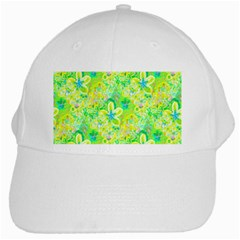 Summer Fun White Baseball Cap by rokinronda