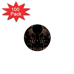 Skull Poster Background 1  Mini Button Magnet (100 Pack) by dflcprints