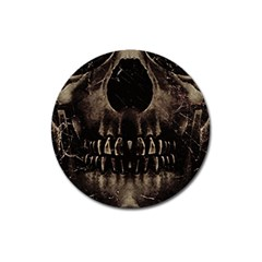 Skull Poster Background Magnet 3  (round) by dflcprints