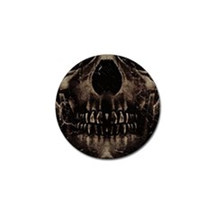 Skull Poster Background Golf Ball Marker 10 Pack by dflcprints