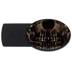 Skull Poster Background 2gb Usb Flash Drive (oval) by dflcprints