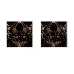 Skull Poster Background Cufflinks (square)