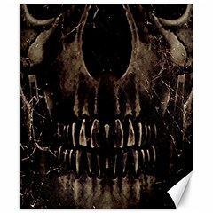 Skull Poster Background Canvas 8  X 10  (unframed) by dflcprints