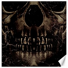 Skull Poster Background Canvas 12  X 12  (unframed) by dflcprints