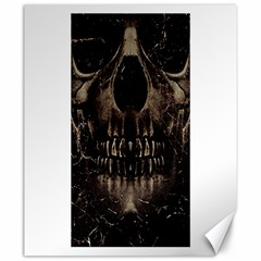 Skull Poster Background Canvas 20  X 24  (unframed) by dflcprints