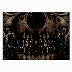 Skull Poster Background Glasses Cloth (large, Two Sided) by dflcprints