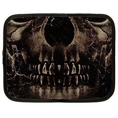 Skull Poster Background Netbook Sleeve (large) by dflcprints