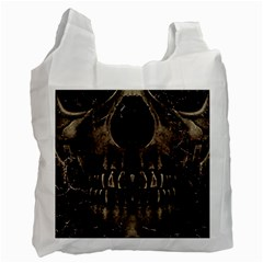 Skull Poster Background White Reusable Bag (one Side) by dflcprints