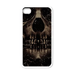 Skull Poster Background Apple Iphone 4 Case (white) by dflcprints