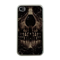 Skull Poster Background Apple Iphone 4 Case (clear)