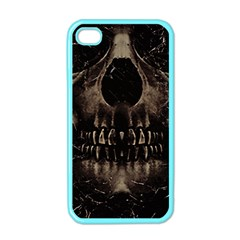 Skull Poster Background Apple Iphone 4 Case (color)