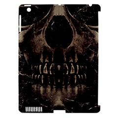 Skull Poster Background Apple Ipad 3/4 Hardshell Case (compatible With Smart Cover) by dflcprints