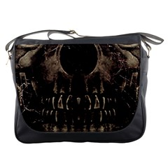 Skull Poster Background Messenger Bag by dflcprints