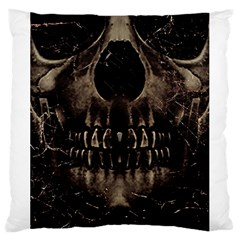 Skull Poster Background Large Cushion Case (two Sided)  by dflcprints