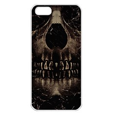 Skull Poster Background Apple Iphone 5 Seamless Case (white) by dflcprints