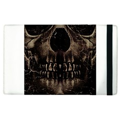 Skull Poster Background Apple Ipad 2 Flip Case by dflcprints
