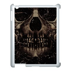 Skull Poster Background Apple Ipad 3/4 Case (white) by dflcprints