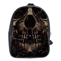 Skull Poster Background School Bag (XL) by dflcprints