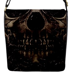 Skull Poster Background Flap Closure Messenger Bag (Small) by dflcprints