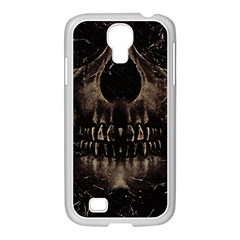 Skull Poster Background Samsung Galaxy S4 I9500/ I9505 Case (white) by dflcprints