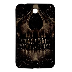 Skull Poster Background Samsung Galaxy Tab 3 (7 ) P3200 Hardshell Case  by dflcprints