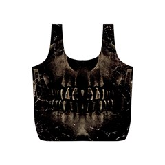 Skull Poster Background Reusable Bag (s) by dflcprints