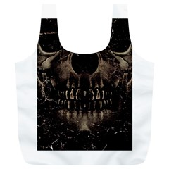 Skull Poster Background Reusable Bag (xl)