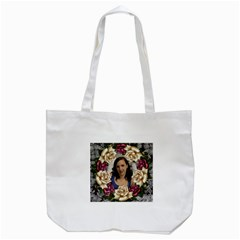 Roses And Lace Tote Bag By Deborah   Tote Bag (white)   7ghyqh6d0p7p   Www Artscow Com Back