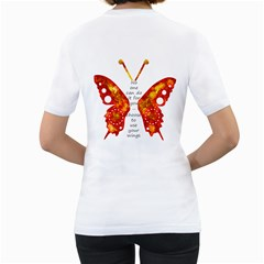 Like Butterfly Women T Shirt By Zornitza   Women s T Shirt (white) (two Sided)   3np6t5qjfruc   Www Artscow Com Back