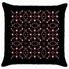 Futuristic Dark Pattern Black Throw Pillow Case by dflcprints