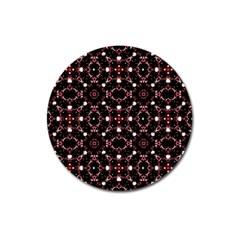 Futuristic Dark Pattern Magnet 3  (round) by dflcprints