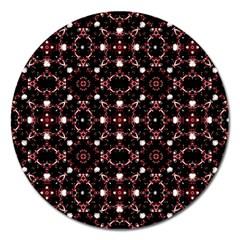 Futuristic Dark Pattern Magnet 5  (round)