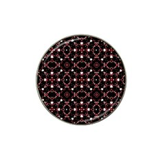 Futuristic Dark Pattern Golf Ball Marker (for Hat Clip) by dflcprints