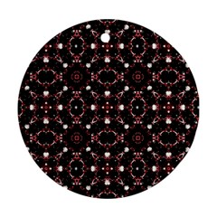 Futuristic Dark Pattern Round Ornament (two Sides) by dflcprints