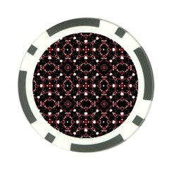 Futuristic Dark Pattern Poker Chip by dflcprints