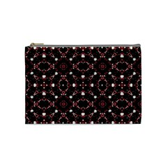 Futuristic Dark Pattern Cosmetic Bag (medium) by dflcprints