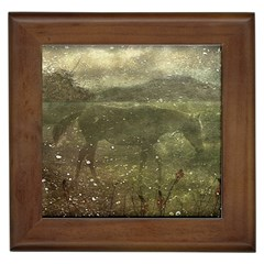 Flora And Fauna Dreamy Collage Framed Ceramic Tile by dflcprints