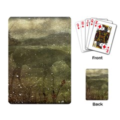 Flora And Fauna Dreamy Collage Playing Cards Single Design by dflcprints