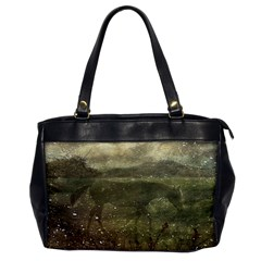 Flora And Fauna Dreamy Collage Oversize Office Handbag (one Side) by dflcprints