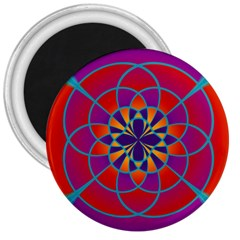 Mandala 3  Button Magnet by SaraThePixelPixie