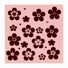 Pink With Brown Flowers Glasses Cloth (medium) by Khoncepts