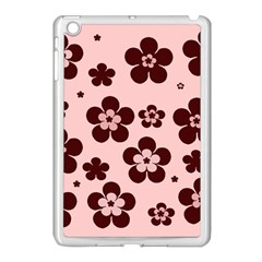 Pink With Brown Flowers Apple Ipad Mini Case (white) by Khoncepts