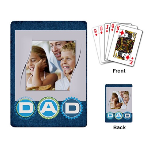 Fathers Day By Dad   Playing Cards Single Design   Jkft2ow2f606   Www Artscow Com Back