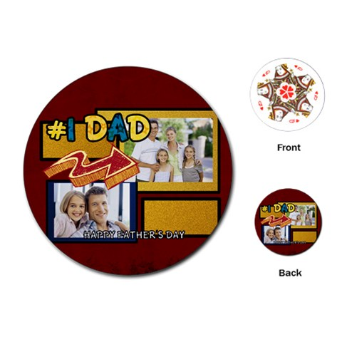 Fathers Day By Dad   Playing Cards (round)   Bmxryiedjtta   Www Artscow Com Front